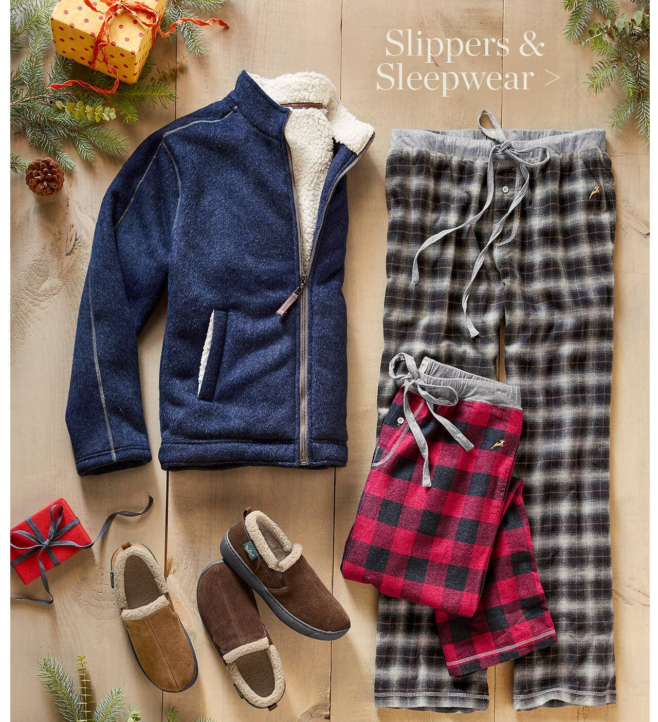Slippers and Sleepwear for Him