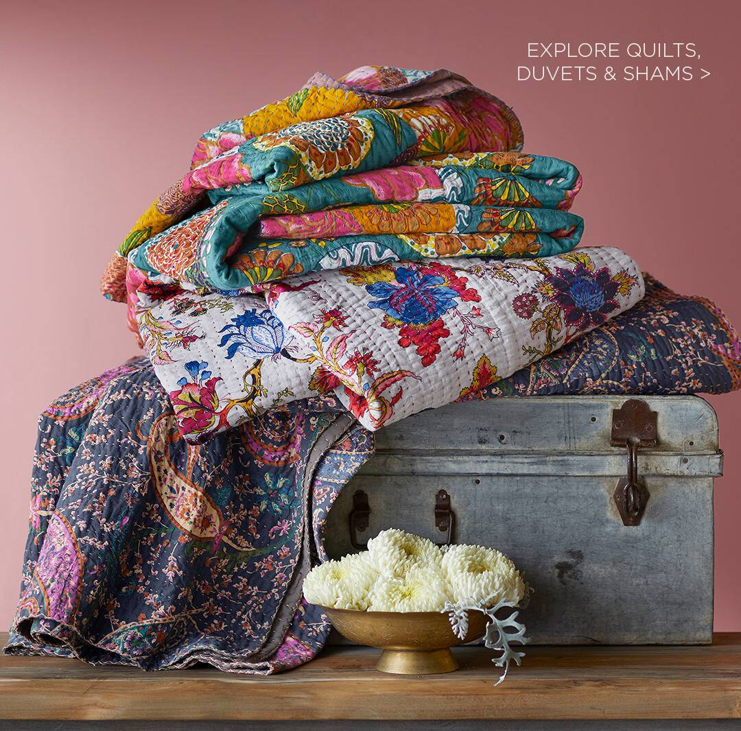 Explore Quilts, Duvets and Shams