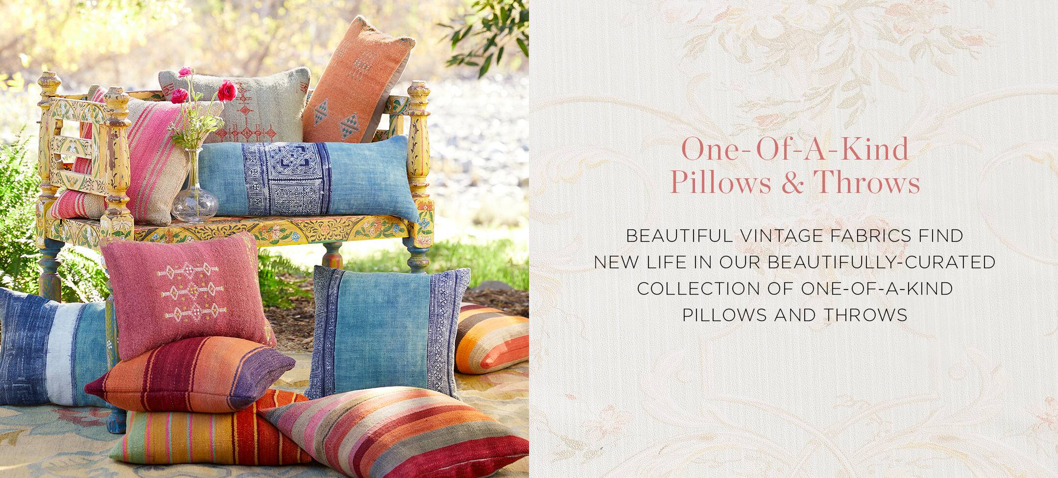 One-of-a-Kind Pillows and Throws