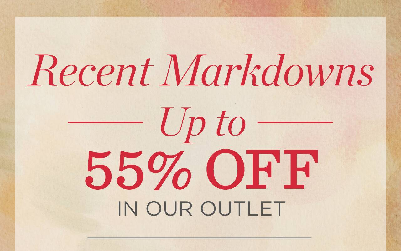 Outlet Recent Markdowns