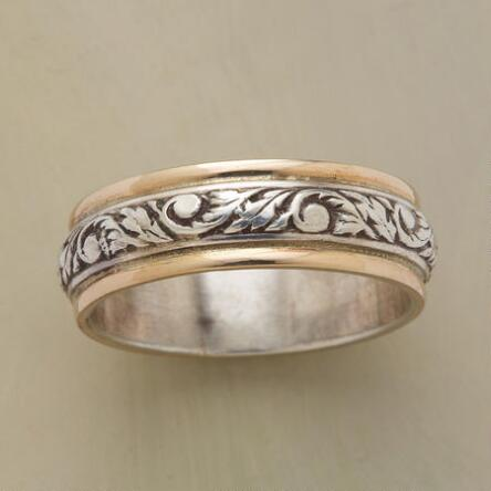 The Tendrils Of This Silver Gold Vine Band Ring Will Wrap Around Your Finger And