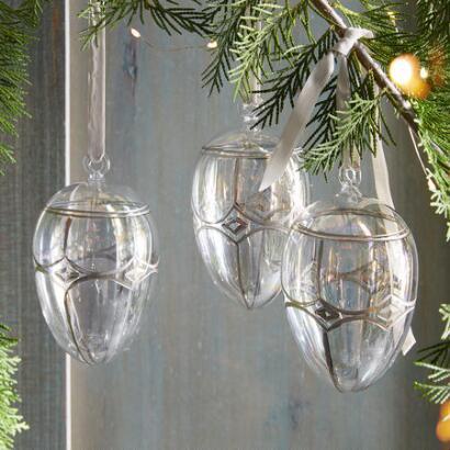 BRILLIANT GLASS EGG ORNAMENT