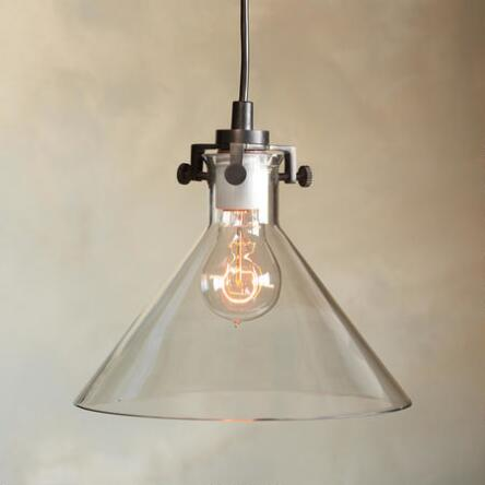 Conical Clear Glass Pendant Lamp Robert Redford S Sundance