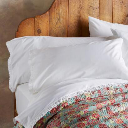 COUNTRY RUFFLE PILLOWCASE SET