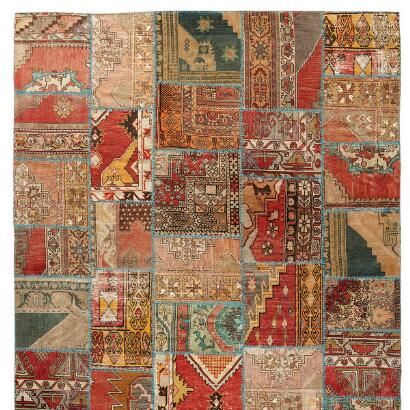 ANATOLIA PATCHWORK KNOTTED RUG
