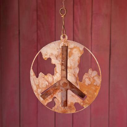 LAYERS OF WORLD PEACE HANGING ART