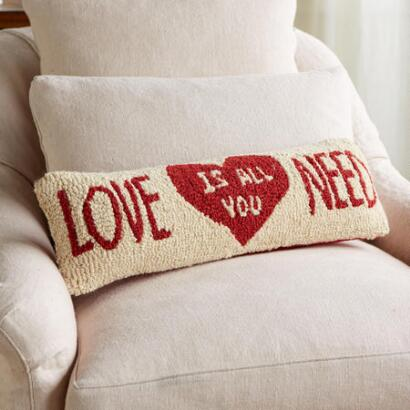 LOVE IS ALL YOU NEED BOLSTER PILLOW
