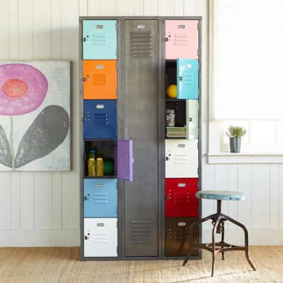 VINTAGE COLORBLOCK LOCKER