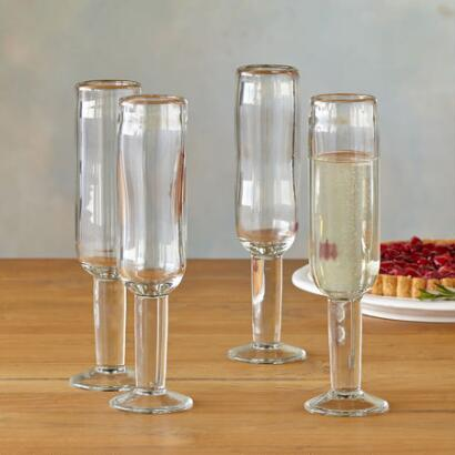 DARBY CHAMPAGNE GLASSES, SET OF 4