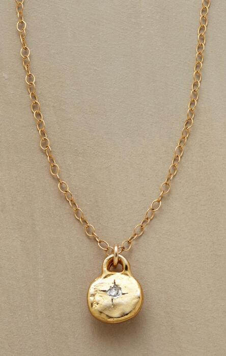Handcrafted necklaces robert redfords sundance catalog this diamond and gold pendant necklace lends a special little sparkle to any occasion aloadofball Gallery