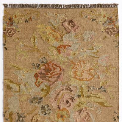 ANTIQUE ROSES KILIM RUG, LARGE