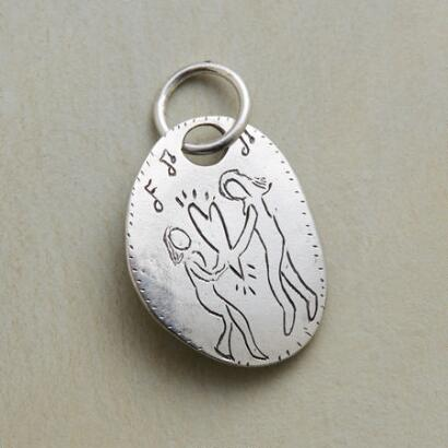 STERLING SILVER HEART DANCE CHARM