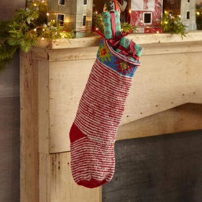 HEIRLOOM CANDYCANE STRIPES STOCKING