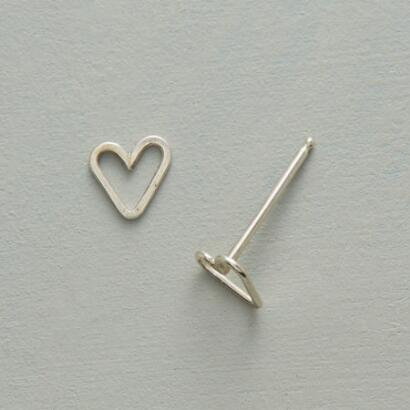 TINY HEARTS, BIG LOVE SILVER EARRINGS