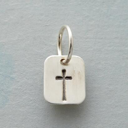LOVE, FAITH & WISDOM CROSS CHARM