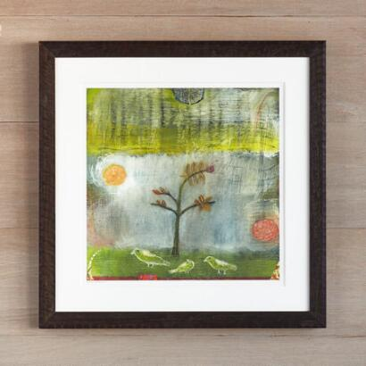 BIRDS & FOG ENCOURAGING YOUNG TREE PRINT