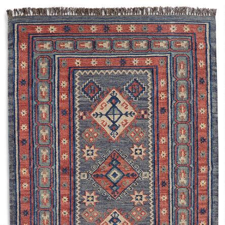 The Soothing Colors And Traditional Patterns In Our Handwoven Kilim Rug Make A Striking Addition To