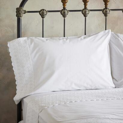 ELYSIA EYELET PILLOWCASE SET