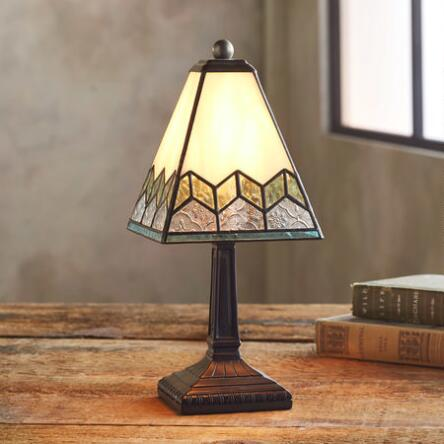 Lighting home furnishings robert redfords sundance catalog our sage creek petite stained glass table lamp brings a warm glow to any aloadofball Image collections