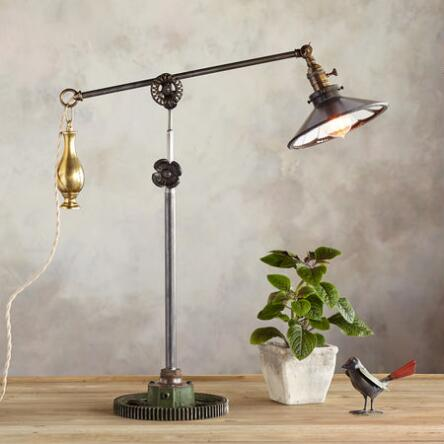 Robert ogdens new orleans table lamp has a chic industrial aesthetic thats
