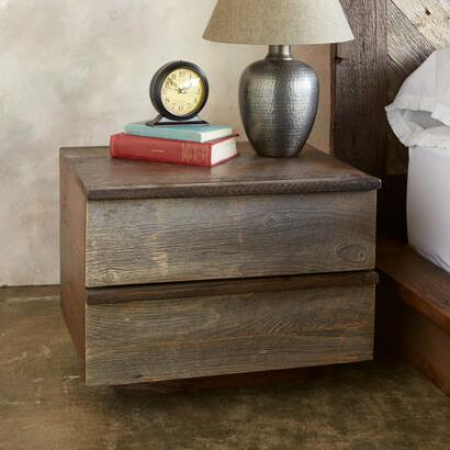 WEATHERED BARNWOOD NIGHTSTAND