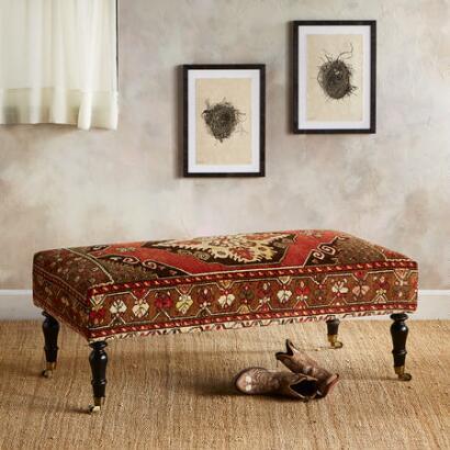MERSIN TURKISH CARPET BENCH