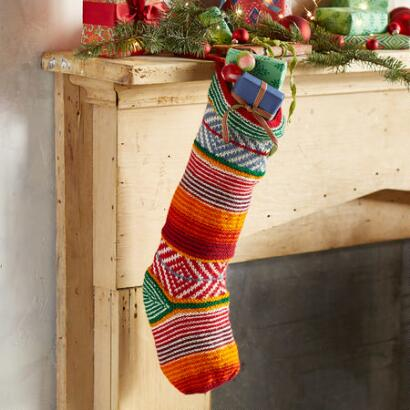 HEIRLOOM COLORFUL STRIPES STOCKING