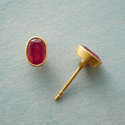 RUBY ARC EARRINGS