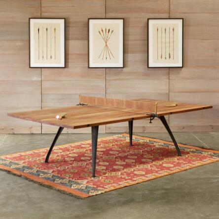 This reclaimed wood and cast iron ping pong table adds a sculptural beauty  to any room. Bar   Game Tables   Furniture   Home Furnishings   Robert