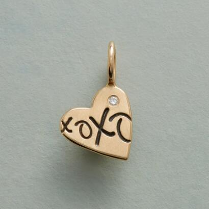 GOLD XOXO HEART CHARM