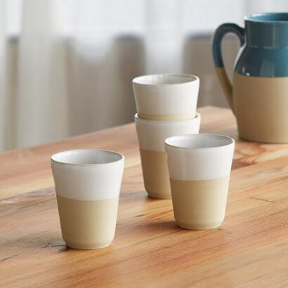 CORRINE STONEWARE CUPS, SET OF 4