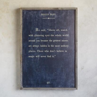 WORDS OF WISDOM PRINT BY ROALD DAHL