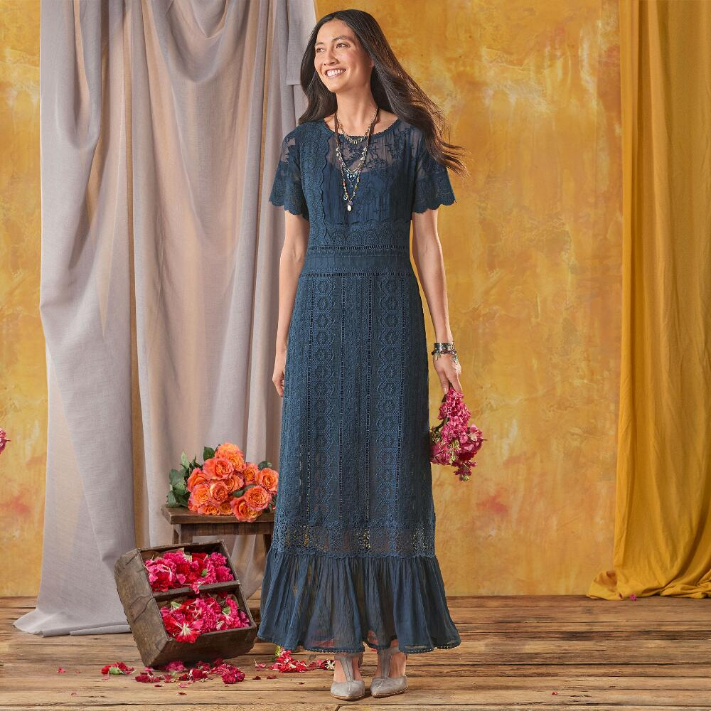 Womens dresses robert redfords sundance catalog our smoke lace column dress is a stunner with pretty accents and deep ombrellifo Images