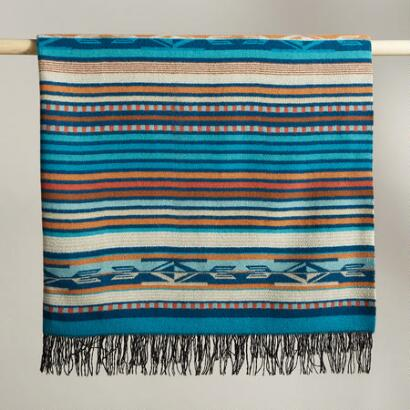 CHIMAYO TURQUOISE THROW