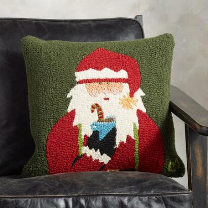 HOLIDAY SANTA PILLOW