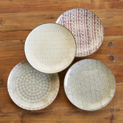 PATTERN PLAY DINNER PLATES, SET OF 4