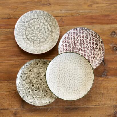 PATTERN PLAY SALAD PLATE, SET OF 4
