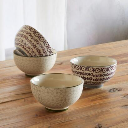 PATTERN PLAY BOWL, SET OF 4