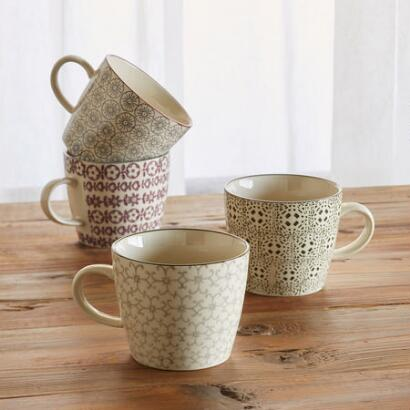 PATTERN PLAY MUG, SET OF 4