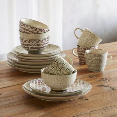 PATTERN PLAY DINNERWARE, 16-PIECE PLACE SETTING
