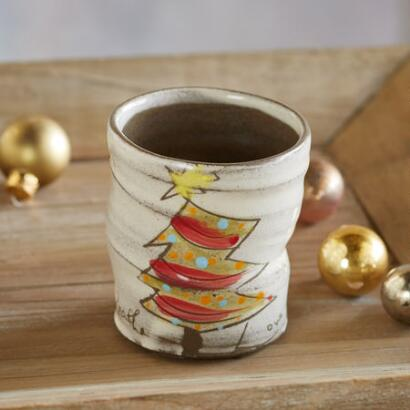 SENTIMENT CHRISTMAS TREE CUPS