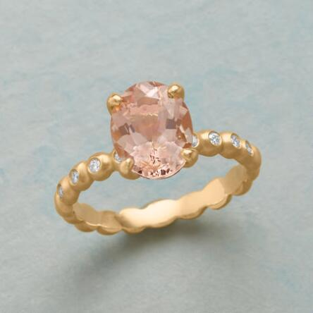 Indulge In The Through And Romance Of Our Morganite Diamond Ring