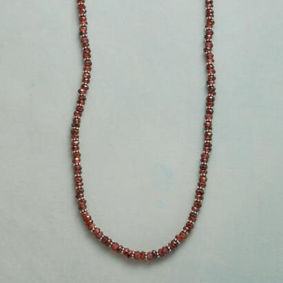 TWO AT A TIME GARNET NECKLACE