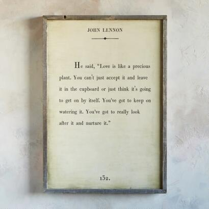 WORDS OF WISDOM PRINT BY JOHN LENNON