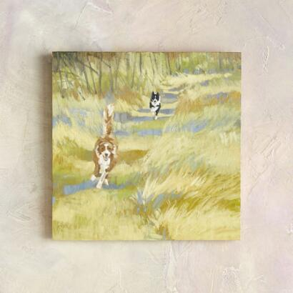 MEADOW RACE PAINTING